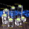 Хрустальное стекло при свечах владельцев оптовых прямоугольник