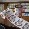 Fournisseur estampé drôle de tissu de toilette de la Chine