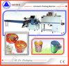 컵 모양 우유 차 또는 즉석 면 수축 감싸는 기계