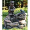 Bambini decorativi del bambino e fontana di acqua esterna bella del giardino della statua della rana con l'indicatore luminoso del LED