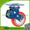 Schlag Absorption Caster mit PU Wheel, Caster mit Spring