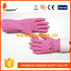 Ddsafety 2017 Green PVC guards Gloves with White Cotton bake