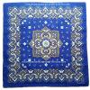 Bandanna carrée bleue de Paisley de coton fait sur commande d'impression de produit d'usine