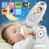 Niño monitor sin hilos del bebé de las cámaras de seguridad de la niñera del control de la temperatura de la nin@era de la radio del color de 2.0 pulgadas