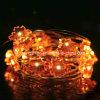 Шнур Dimmable СИД кленового листа освещает свет медного провода померанцовый Fairy