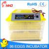 Entièrement automatique Mini-incubateur d'oeufs de poulet tenue 96 oeufs