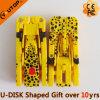Palillo de destello deformable del USB del leopardo de encargo del regalo (YT-3707)
