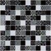 300*300mm schwarze Mischungs-weißes Glasmosaik