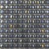 De zwarte Decoratie van de badkamers van de Tegel van het Glas van de Steen van het Brood