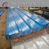 Folha de telhado de aço corrugado galvanizado revestido de cor