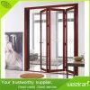 Puertas dobles interiores del vidrio del oscilación de la aleación de aluminio de la calidad excelente