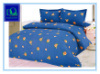 Tela escovada da folha de cama da impressão e da tingidura do poliéster (DQ-002)