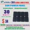 30W Gelamineerde Huisdier van het Zonnepaneel van Sunpower het semi-Flexibele (petc-SE30H)
