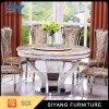 Moderner 8 Seater Edelstahl-Tisch mit Marmoroberseite