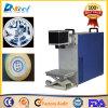 Macchina della marcatura del laser della fibra di prezzi più bassi sul metalloide Ceram/cuoio