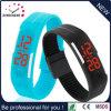 Вахта красного лихтера силикона wristwatch силикона СИД вахты промотирования способа (DC-590)