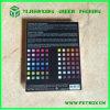 El plástico colorea el rectángulo plegable de la impresión de Cmyk