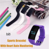 Écran tactile Smart Bracelet avec moniteur de fréquence cardiaque (D21)