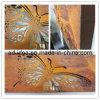 Большой лазерной резки бабочка ржавчины освещения в салоне стены помещения (GAR-005)