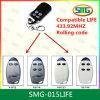 Kompatibles Fernsteuerungs des Smg-015life Garage-Tür-Fernsteuerungstaste FOB-Leben-VIP2