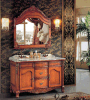 Preiswertester antiker Badezimmer-Schrank des festen Holz-2016 (LZ-137)