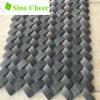 Korbgeflecht-Schwarz-Stein-Mosaik-Fliese für Küche