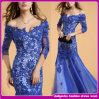 Сексуальное Fashion Crystal Women Long Evening Dress с The Latest Design и Lace (D33987)
