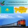 Дешевый груз поезда транспортируя стандартную перевозку груза рельса поездом к Kasakhstan от Китая