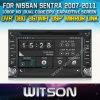 Fábrica audio de Shenzhen do carro de Witson para Nissan Sentra (W2-D8900N)