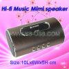 Disco U + TF Cartão + Altifalante reta de alumínio de função FM,Mini Speaker, música, colunas de altifalantes portáteis