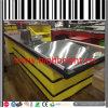 Le caissier de haute qualité en acier inoxydable contre la table de centre commercial