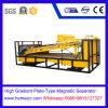 Placa-Tipo elevado separador magnético do inclinação para o minério, areia do silicone