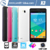 3G 4.5 Inch IPS Mtk6572 Dual Core Smartphones para Sale con 5.0MP Camera (X3)