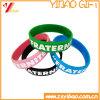 Fabrik-Großhandelssilikon-Armbandund SilikonWristband mit Debossed /Embossed Gummiband (YB-HR-380)