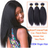 5A Grade Natural Black (#1B) Coarse Yaki Straight Virgin brasiliano Hair Weave 3PC/Lot