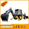 Tractores de Granja 45HP, Tractores 4X4 con los Cargadores de las Partes Frontales y Retroexcavadora