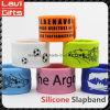Buena productora de moda Slapband de silicona personalizadas