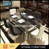 Mobília de mármore da tabela de jantar 2017 tabelas de jantar ajustadas de jantar do luxo