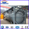 ISO Standard Carbon Steel 20FT of 40FT HCl Acid Tank Container van Chemical Liquid