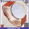 Os Mens ocasionais do relógio de pulso da forma da promoção do relógio dos homens do couro genuíno de boa qualidade Yxl-099 projetam relógios do homem de quartzo