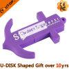 USB roxo Pendrive da escora do PVC do costume para os presentes da navigação (YT-PA)