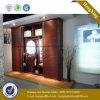 Armário Walk-in do Wardrobe de madeira do MDF da porta deslizante (HX-LC2031)