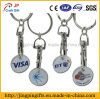 Promotional Trolley Token Coin Key Ring with Logo