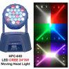 Color principal móvil de la luz 24PCS 3W 4 de la viga