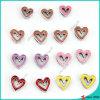 Encantos huecos coloridos del corazón para la joyería de la pulsera (SC16040935)