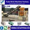 Bloco da cavidade de Fuda Qt4-24b que faz a máquina/preço maciço concreto da máquina do tijolo