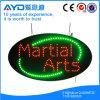 Oval Hidly alto brillo LED de las artes marciales firmar