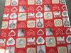 Tampa 2017 quadrada impressa poliéster de pano de tabela de Retangle do projeto novo do Natal da tela