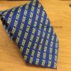 Gravata Têxtil de seda artesanal Jacquard com logotipo