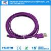 인조 인간 Huawei를 위한 마이크로 USB 케이블을 비용을 부과하는 다채로운 5pin 데이터 Sync